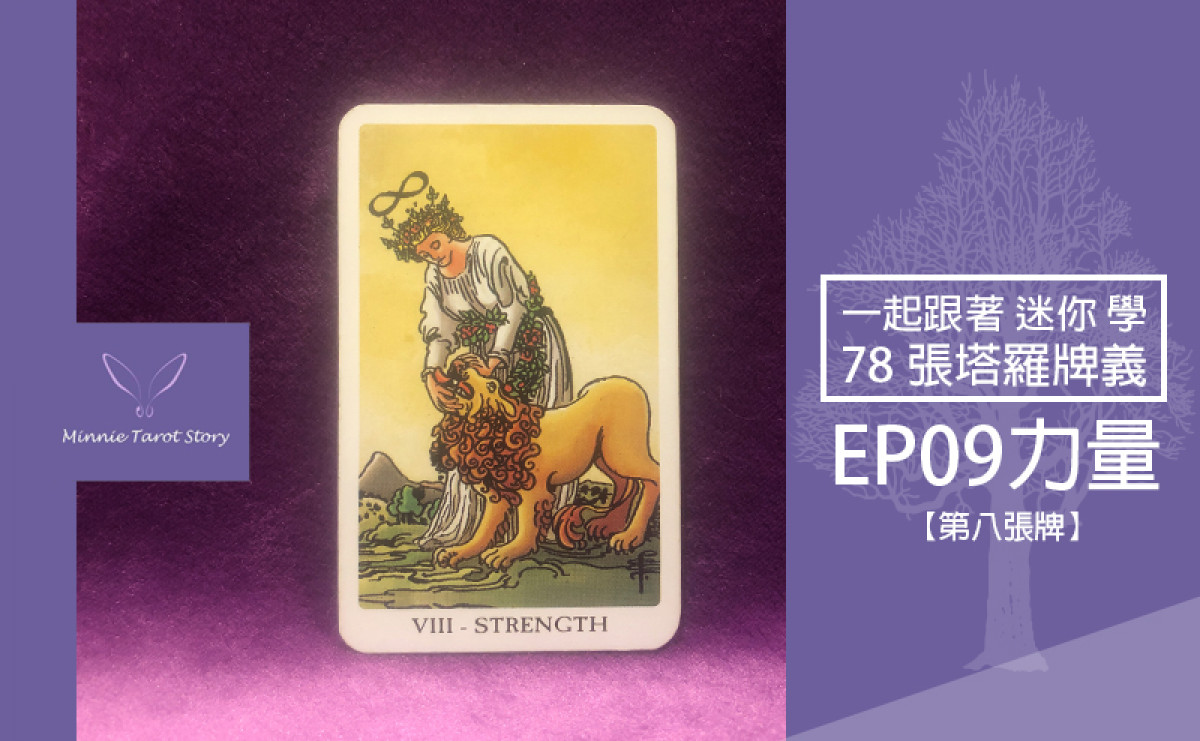EP09塔羅78張塔羅牌義【力量】以柔克剛,生生不息的力量泉源