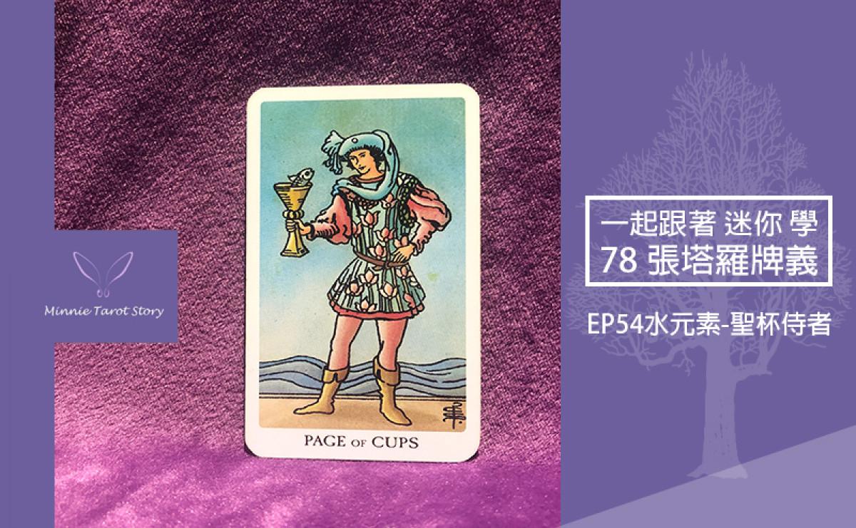 EP54塔羅78張塔羅牌義【水元素-聖杯侍者】坦然接受自己的內心,隨遇而安的感覺