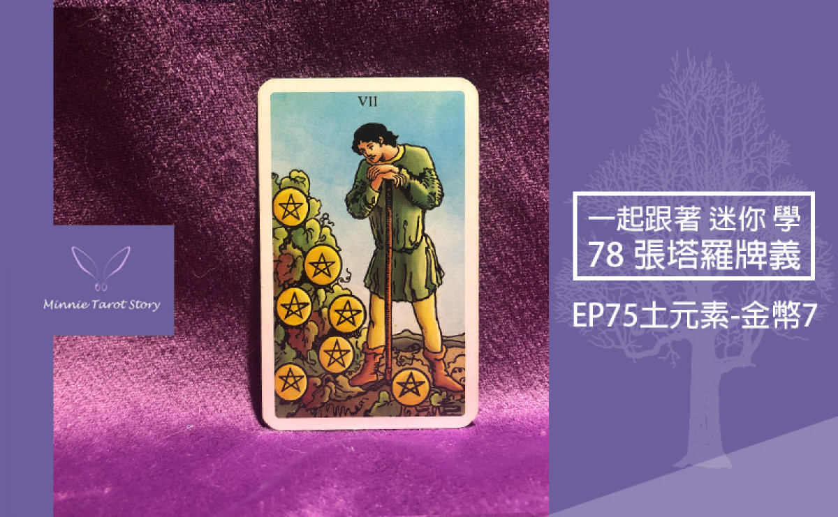 EP75塔羅78張塔羅牌義【土元素-金幣7】耐心勤勞就能收穫