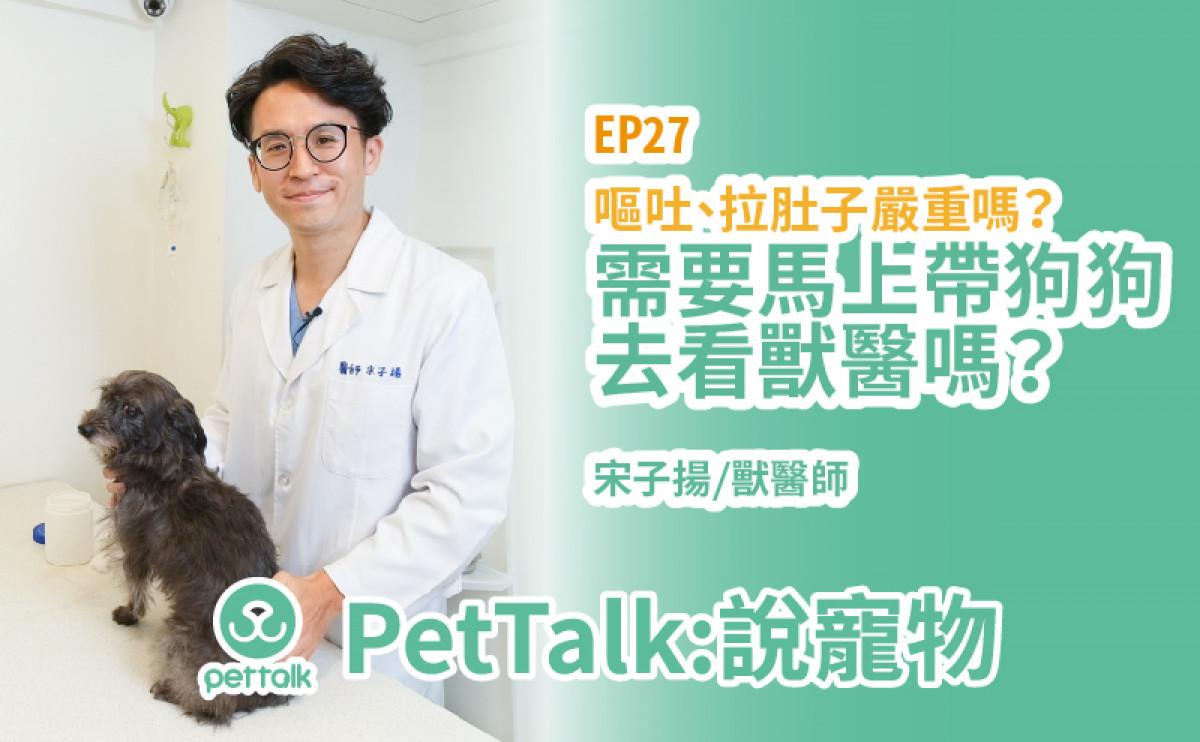 PetTalk說寵物|狗狗拉肚子、嘔吐馬上要帶去看獸醫嗎?【宋子揚 獸醫師】