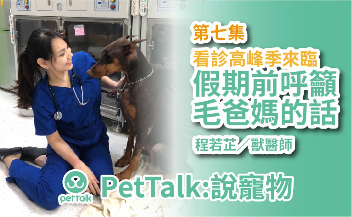 PetTalk說寵物│看診高峰來臨!假期前呼籲毛爸媽的話! 【程若芷 獸醫師】